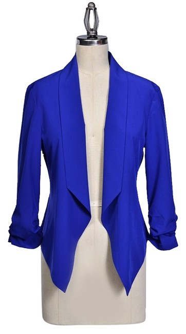 Preload https://img-static.tradesy.com/item/1724292/cobalt-blue-draped-blazer-blouse-size-4-s-0-0-650-650.jpg