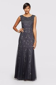 Adrianna Papell Charcoal 091880660 Dress