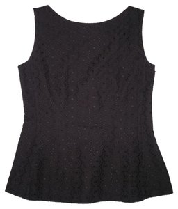 Kate Spade Peplum Eyelet Cotton Fitted Top