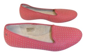 UGG Australia Comfy Shearling Leather coral Flats