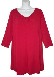 Eileen Fisher Knit Rayon Jersey Red Tunic