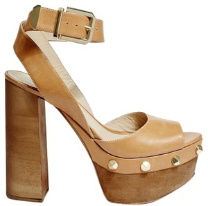 Marciano Platform Sandal Summer Brown Wedges