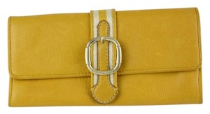 Michael Kors Leather Purse Yellow Clutch