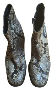 Anne Klein Python Leather Ankle Italy Boots