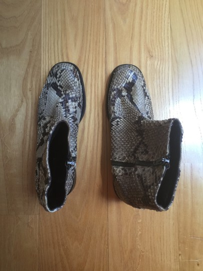 Anne Klein Python Leather Ankle Italy Boots Image 1