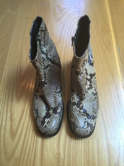 Anne Klein Python Leather Ankle Italy Boots Image 5