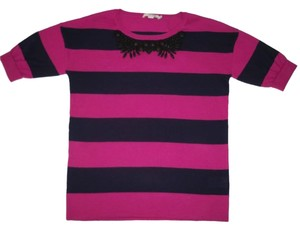 Boden Striped Wool Cotton Relaxed Sweater
