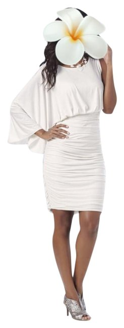 White Cap Sleeve Dress 64% Off #17243692 - Night Out Dresses 30%OFF