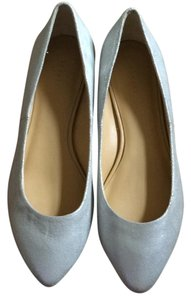 Theory Silver/light grey Flats