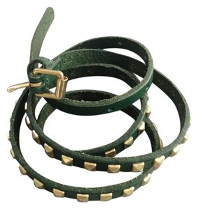 J.Crew J. Crew green leather studded belt