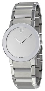 Movado Silver Mirror Dial Silver Stainless Steel Designer MENS Watch