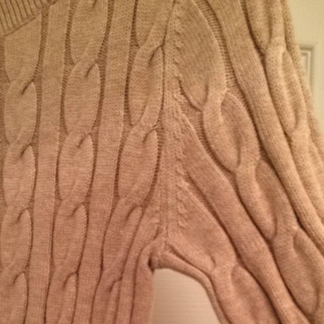 Ann Taylor LOFT Cableknit Cable Cotton Beige Sweater