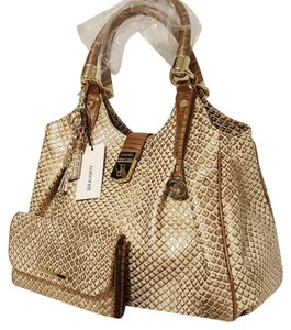 Brahmin Elisa Wallet Tassel Key Ring Hobo Bag