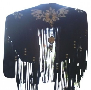 Top Black with gold leather work