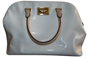 Michael Kors Signature Patent Leather Satchel in White