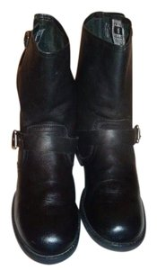Frye Veronica Shortie Ankle Slouchy Black Boots