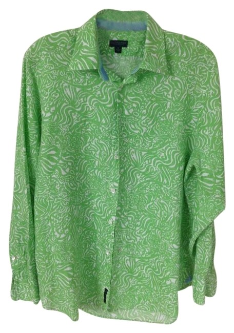 Preload https://img-static.tradesy.com/item/172444/lilly-pulitzer-bright-green-linen-button-down-top-size-10-m-0-0-650-650.jpg