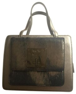 MCM Elegant Nice Leather Tote in Silver