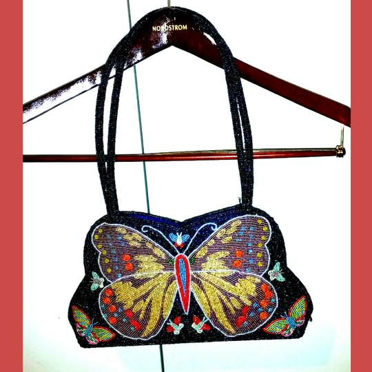 Preload https://img-static.tradesy.com/item/17244463/butterfly-beaded-purse-multicolored-beads-outer-and-satin-inside-shoulder-bag-0-0-540-540.jpg