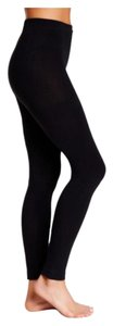 Betsey Johnson Betsey Johnson Black LEGGINGS PLUSH FLEECE LINED LEGGINGS/Footless Tights