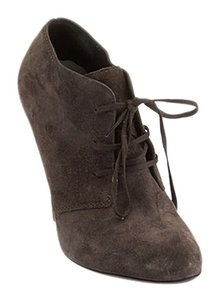 Saint Laurent Yves Women;s Suede Ankle Grey Boots