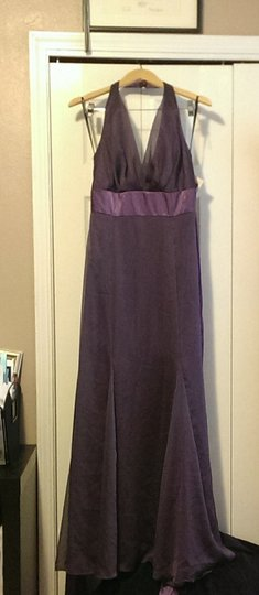 Watters & Watters Bridal Purple Chiffon 1594 Formal Bridesmaid/Mob Dress Size 8 (M)