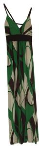 Green, brown, and cream Maxi Dress by Whish