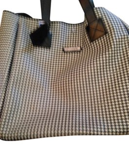 Ralph Lauren Large Tote in Glen plaid. Black white