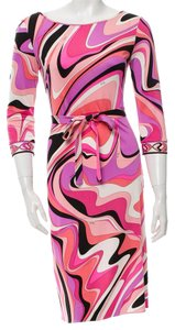 Emilio Pucci Print Longsleeve Monogram Dress