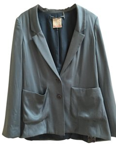 Rebecca Taylor Silk Summer Denim Casual Blue Jacket
