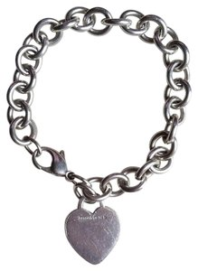Tiffany & Co. Sterling Silver Heart Link Bracelet