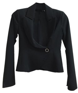 Other Italian Fitted European Metallic Hardware Black Jacket