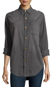 Current/Elliott Denim Button Down Shirt Button Down Shirt Analog