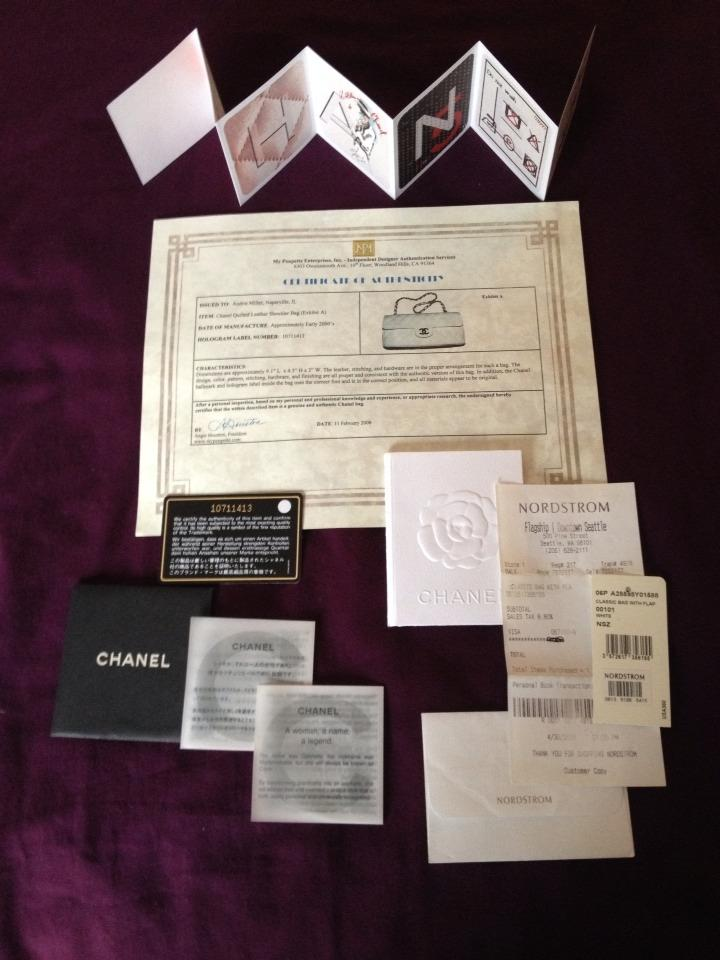 7925dac4b214a Chanel East West White Caviar Leather Baguette - Tradesy