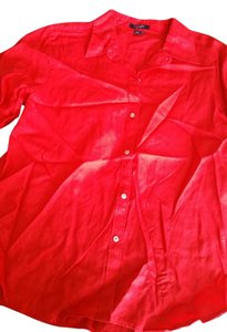 Chaps Button Down Shirt Red