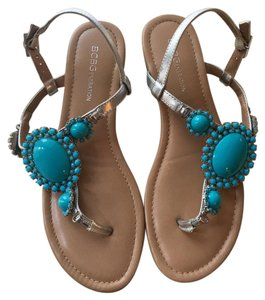 BCBGeneration Opal & Silver Sandals