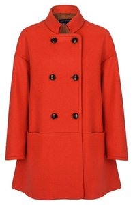 3eee369fdf French Connection Sierra (Warm Red Orange) Novelty Double-breasted Coat  Size 10 (M)