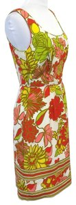 Trina Turk Floral Silk Trink Summer Dress