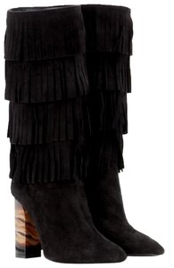 Burberry Cadey Sale Clearance Fringe Black Boots