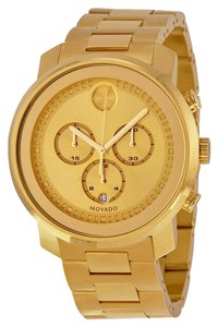 Movado Gold tone Stainless Steel Designer MENS Casual Dress Watch