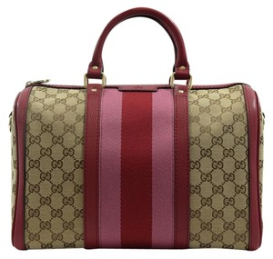 Gucci 247205 Boston Gg Web Shoulder Bag