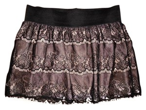 Xhilaration Lace Rose Lace Skirt Black, Beige