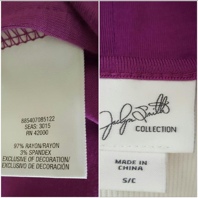 Jaclyn Smith Embellished Tank New Metal Top Purple Image 3