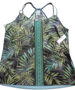 a.n.a. a new approach green multi Halter Top