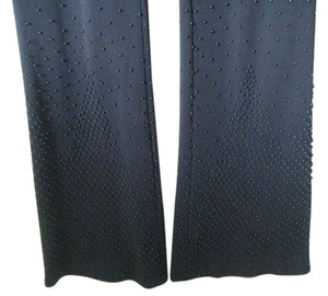 Alberta Ferretti Beaded Double Jersey Flare Pants