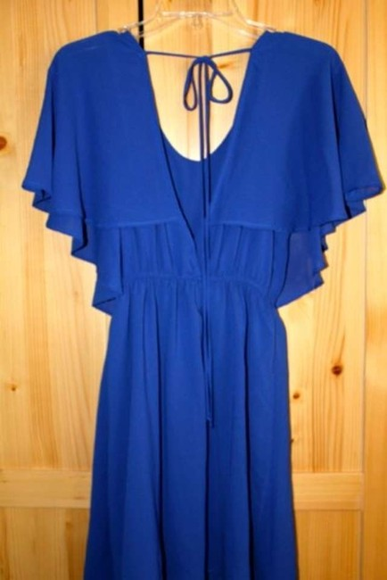 Audrey 3+1 short dress Blue Flutter Open Back Gatsby on Tradesy