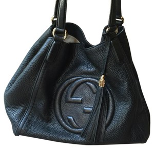 5121707b8e3 Added to Shopping Bag. Gucci Hobo Bag. Gucci Shoulder Soho Black Leather ...