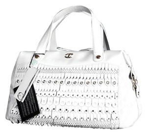 Just Cavalli Satchel in White Light Pink