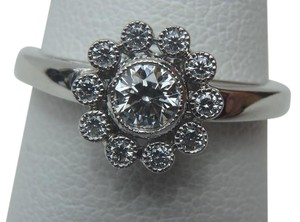 Tiffany & Co. Tiffany & Co. Platinum & Diamond Flower Ring .35CT