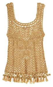 Calypso Womens Crochet Top Gold